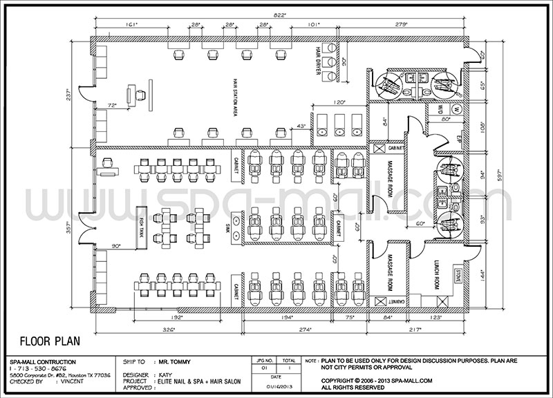 Salon design layout for Salon floor plans